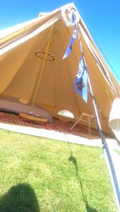The Game Fair Camping and Glamping Bell tent